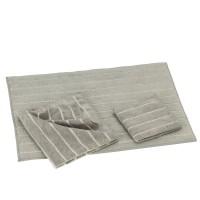 Abtropfmatte-Küchentücher 3er-Set grau