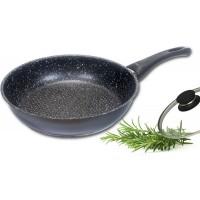 Profi-Keramik-Edelstahlpfanne Ø 28 cm mit Glasdeckel