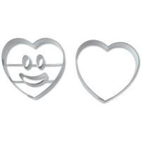 Ausstechformen-Set Smiley Herz