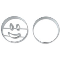 Ausstechformen-Set Smiley Kreis