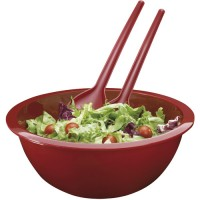Salatschüssel mit Salatbesteck